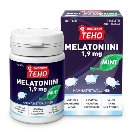 Bioteekin Teho Melatoniini Mint 1,9 mg